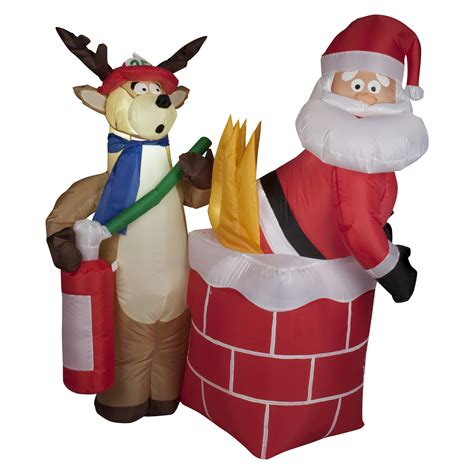 trim  home airblown santa  fire inflatable decoration