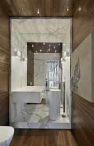 beaucoup d39idees en photos pour la salle de bain en marbre With modele salle de bain moderne