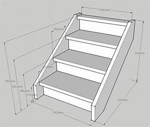 Créer un petit escalier en bois de 3 marches