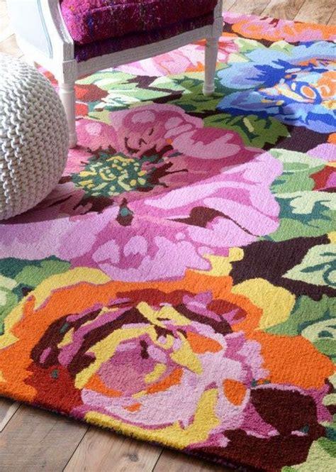 eye  design decorating  bold floral rugs