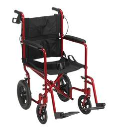 lightweight expedition transport wheelchair with brakes