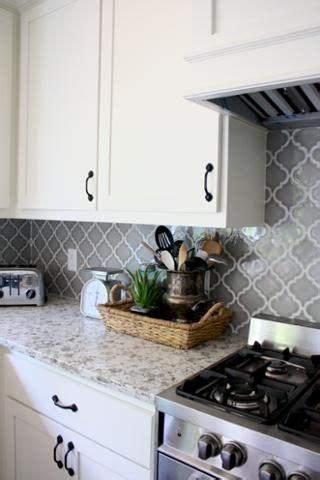 gray  white kitchen farmhouse kitchen arabesque tile