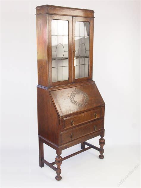 bureau bookcase vintage oak bureau bookcase cabinet antiques atlas
