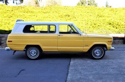 yellow jeep grand cherokee purchase used 1975 jeep grand cherokee s like wagoneer 2