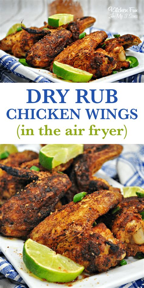 fryer chicken air dry rub wings recipes recipe wing keto kitchenfunwithmy3sons fun fried seasoning whole carb low airfryer food snack