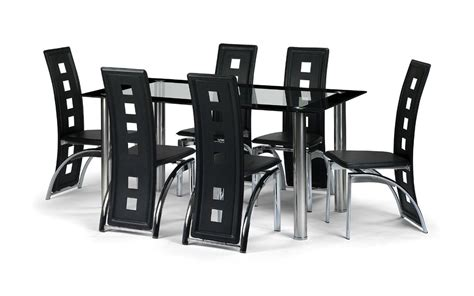 set table et chaises black glass dining room table set and with 4 6 or 8 faux