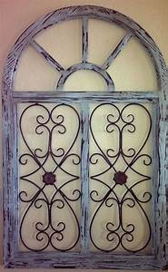 46 quot shabby vintage chic arched window pane wall grill
