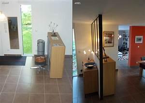 relooking tendance a orvault un amour de maison With meuble separation entree salon