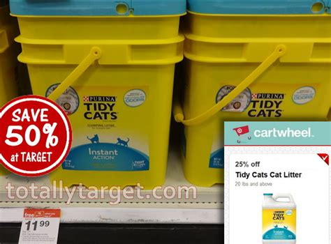 tidy cat coupons save 50 on purina tidy cats cat litter at target