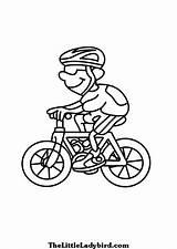 Bicycle Bike Coloring Transportation Printable Colorear Transporte sketch template
