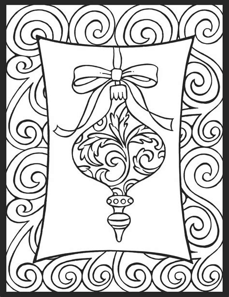 google printable christmas adult ornaments free ornament coloring pages coloring home