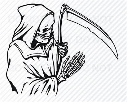 Clipart Reaper Grim Svg Silhouette Cricut Halloween