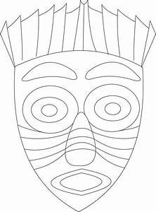 african mask coloring page art of africa pinterest With aztec mask template