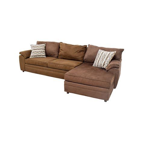 46% OFF  Bob's Furniture Bob's Furniture Brown Chaise
