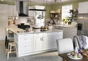 Cuisine Blanche Et Bois Ikea : lot central cuisine ikea en 54 id es diff rentes et ~ Dailycaller-alerts.com Idées de Décoration