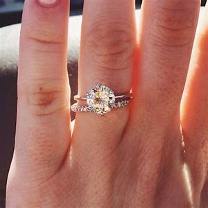 1 5 carat solitaire engagement ring wedding and bridal for Wedding rings to go with solitaire engagement ring
