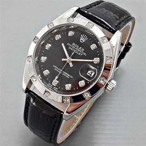 Jam Rolex Ring Mata 012 jual beli rolex datejust automatic kulit leather black