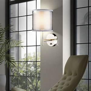 Lampe Grau Stoff : 2er set wand lampen stoff schirm lese nacht licht schlafzimmer leuchten grau e14 kaufen bei ~ Indierocktalk.com Haus und Dekorationen