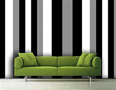 Green Horizontal Striped Curtains by Custom Striped Wallpapers In London
