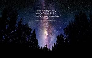 Galaxy Background With Quotes Wallpaper - clipartsgram.com