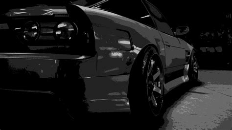 Monochrome, Black, Car, Nissan 180sx, Need For Speed