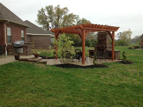 patio pergola plans landscaping gardening ideas