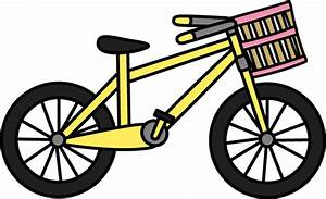 Bicycle with Basket Clip Art - Bicycle with Basket Image