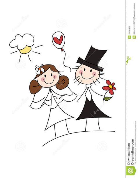 happy cartoon wedding couple weddingflowers wedding