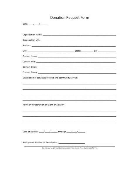 printable donation form template newatvsinfo