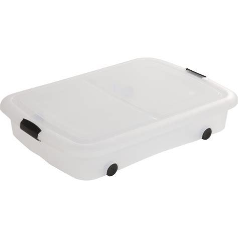 dessous de lit modular clear box plastique l 56 5 x p 80