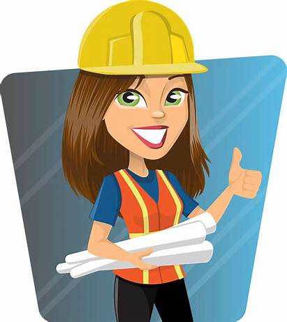 Woman Engineer Worker Lady Graphic Vector