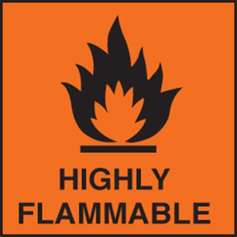 Hazard Label Highly flammable (orange)   SSP Print Factory