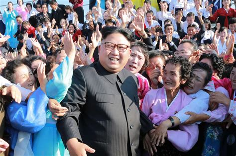 Kim Jong Un Is Mobbed By Legions Of Adoring Spinsters… As