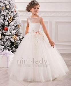Robe De Demoiselle D Honneur Fille : appliques robe de communion princesse fille mariage robe ~ Mglfilm.com Idées de Décoration