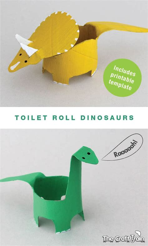 toilet roll dinosaurs crafts  kids toilet paper roll