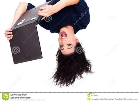 Laptop Upside Down Royalty Free Stock Photo