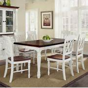 Dining Set Bench Style by Home Styles Monarch 7 Piece Dining Table Set With 6 Double X Back Chairs Wh