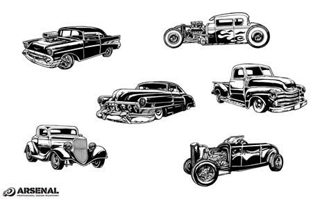 Vintage Cars Vector Pack From Go Medias Arsenal