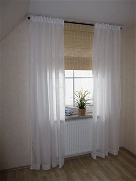 ikea thin curtains 1 pair white new ebay