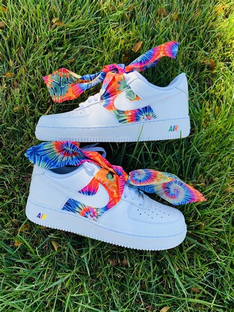 tie dye bandana air force   custom movement