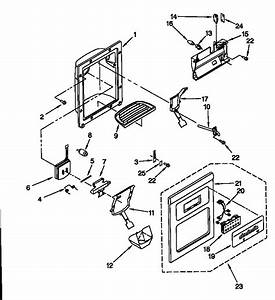Dispenser Front Diagram  U0026 Parts List For Model 10657765791