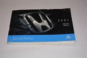 2007 Honda Accord Sedan Owners Manual Guide Book Oem