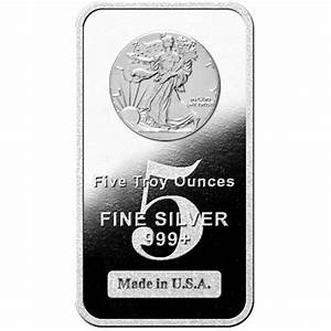 Buy 5 Oz Hm Walking Liberty Silver Bars Online New L Jm