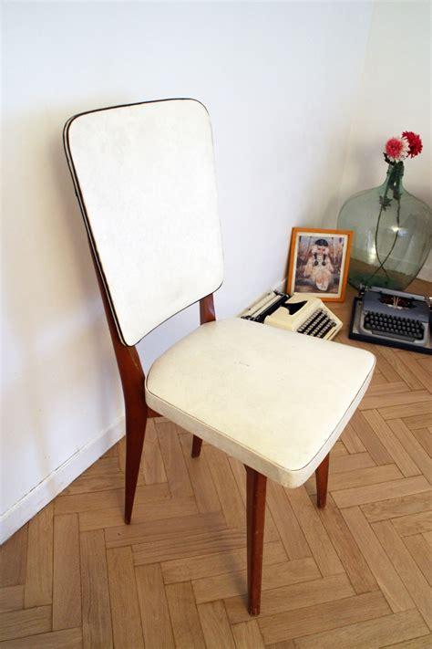 chaise vintage scandinave blanche et bois pas cher luckyfind