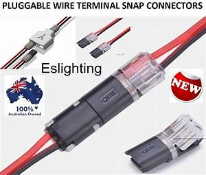 8x 12v Wire Cable Snap Plug In Connector Terminal