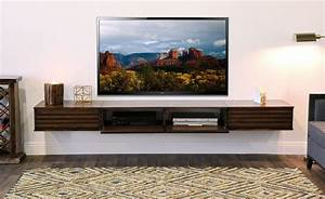 Floating TV Stand Wall Mount Entertainment Center - Lotus