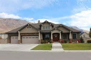 design custom home front elevation craftsman exterior salt lake city by joe carrick design custom home design
