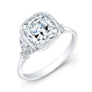 shaped engagement rings canadian cushion cut engagement ring