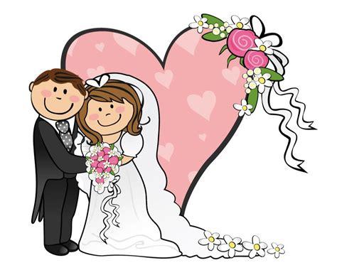 Cartoon Funny Bride And Groom