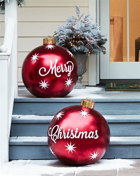 Diy, Outdoor Merry Christmas Ornaments, Set Of 2 Beach